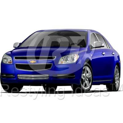 Grilles - Custom Fit Grilles - Restyling Ideas - Chevrolet Malibu Restyling Ideas Billet Grille - 72-SB-CHMAL08-B