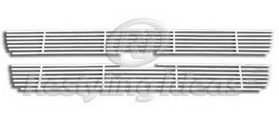Grilles - Custom Fit Grilles - Restyling Ideas - Chevrolet Trail Blazer Restyling Ideas Upper Grille -Stainless Steel Chrome Plated Billet - 72-SB-CHTRA07-T