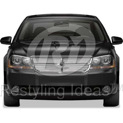 Grilles - Custom Fit Grilles - Restyling Ideas - Dodge Avenger Restyling Ideas Billet Grille - 72-SB-DOAVE08-T