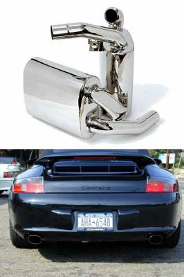 Exhaust - Custom Fit Exhaust - FabSpeed - MAXFLO Mufflers without Tips