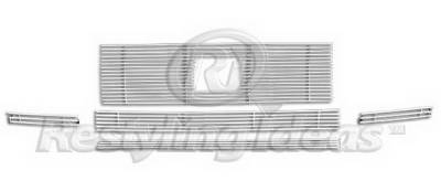 Grilles - Custom Fit Grilles - Restyling Ideas - Honda Ridgeline Restyling Ideas Upper & Lower Grille - Stainless Steel Chrome Plated Billet - 72-SB-HORID06-TB