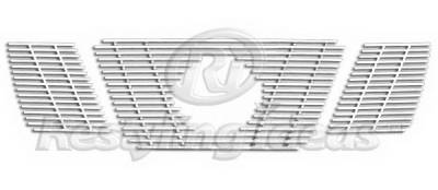 Grilles - Custom Fit Grilles - Restyling Ideas - Nissan Frontier Restyling Ideas Upper Grille -Stainless Steel Chrome Plated Billet - 72-SB-NIPAT05-T