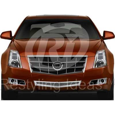 Grilles - Custom Fit Grilles - Restyling Ideas - Cadillac CTS Restyling Ideas Knitted Mesh Grille - 72-SM-CACTS08-B