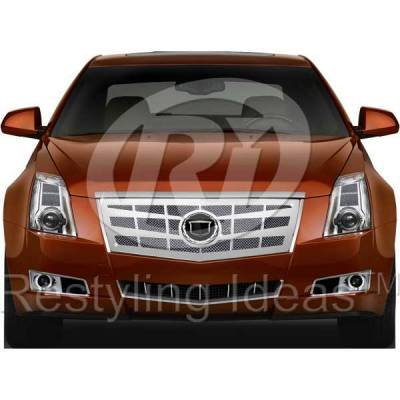 Grilles - Custom Fit Grilles - Restyling Ideas - Cadillac CTS Restyling Ideas Knitted Mesh Grille - 72-SM-CACTS08-T