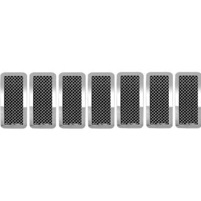 Grilles - Custom Fit Grilles - Restyling Ideas - Jeep Grand Cherokee Restyling Ideas Knitted Mesh Grille - 72-SM-JEGRC05-T
