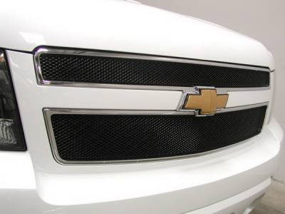 Grillcraft - Chevrolet Avalanche MX Series Black Upper Grille - 2PC - CHE-1507-B