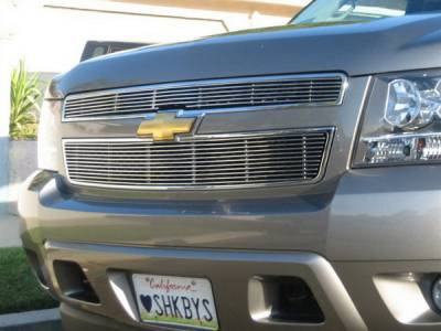 Grilles - Custom Fit Grilles - Grillcraft - Chevrolet Avalanche BG Series Black Billet Upper Grille - 2PC - CHE-1507-BAO