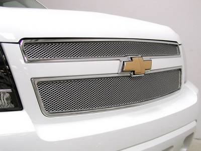 Grillcraft - Chevrolet Avalanche MX Series Silver Upper Grille - 2PC - CHE-1507-S