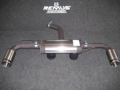 Exhaust - Custom Fit Exhaust - Remus - Volkswagen Golf Remus Sports Label Dual Exhaust System with Street Race Tips - 956008-1598C