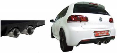 Exhaust - Custom Fit Exhaust - Remus - Volkswagen Golf Remus Cat-Back Exhaust System with Front Silencer - 956010-0300