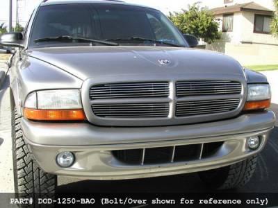 Grilles - Custom Fit Grilles - Grillcraft - Dodge Dakota BG Series Black Billet Upper Grille - DOD-1250-BAC