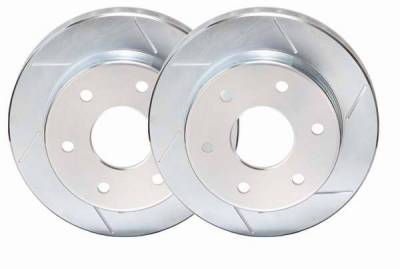 Brakes - Brake Rotors - PowerStop - Power Stop Slotted Rotor - Front Left & Right - AR8242SLR