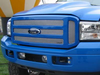 Grilles - Custom Fit Grilles - Grillcraft - Ford Excursion MX Series Silver Upper Insert Grille - 6PC - FOR-1351-S