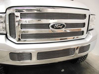 Grilles - Custom Fit Grilles - Grillcraft - Ford Excursion BG Series Black Billet Upper Grille - 6PC - FOR-1352-BAO