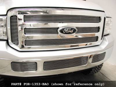Grilles - Custom Fit Grilles - Grillcraft - Ford Excursion BG Series Black Billet Bumper Grille - FOR-1354-BAO