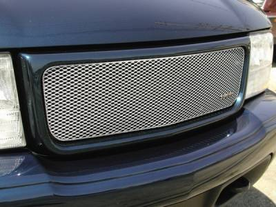 Grilles - Custom Fit Grilles - Grillcraft - GMC Jimmy MX Series Silver Upper Grille - GMC-2015-S