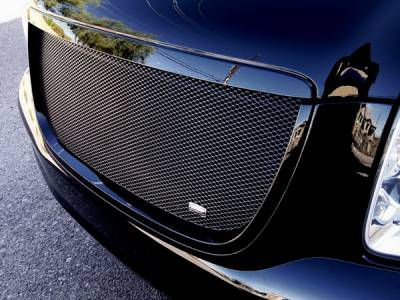 Grilles - Custom Fit Grilles - Grillcraft - GMC Denali BG Series Black Billet Upper Grille - With Logo Cut Out - GMC-2021-BAO