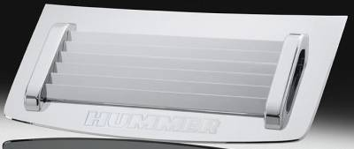 Grilles - Custom Fit Grilles - Defenderworx - Hummer H2 Defenderworx Hood Grille with Handles - ECG - Chrome - H2CPC05006