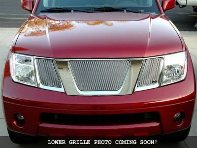 Grilles - Custom Fit Grilles - Grillcraft - Nissan Frontier MX Series Black Lower Grille - NIS-1528-B