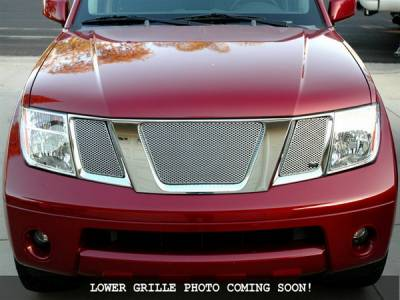 Grilles - Custom Fit Grilles - Grillcraft - Nissan Frontier MX Series Silver Lower Grille - NIS-1528-S