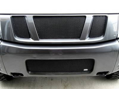 Grilles - Custom Fit Grilles - Grillcraft - Nissan Armada MX Series Black Upper Grille - 3PC - NIS-1550-B