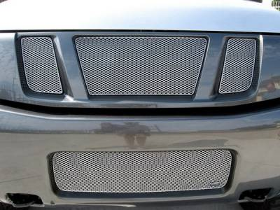 Grilles - Custom Fit Grilles - Grillcraft - Nissan Armada MX Series Silver Upper Grille - 3PC - NIS-1550-S