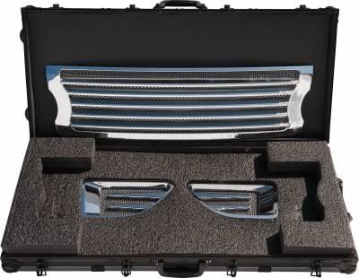 Grilles - Custom Fit Grilles - Defenderworx - Land Rover Range Rover Defenderworx Grille with Side Vents - Door Handles - Logo Bezels Kit - Polished - RRPPC06050