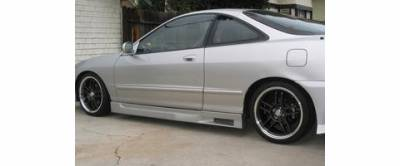 Integra 4Dr - Side Skirts - Sense - Acura Integra Sense Black Widow Style Side Skirts - BW-13S