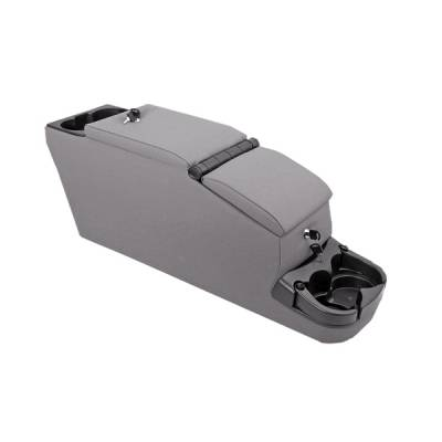 Car Interior - Arm Rests - Omix - Rugged Ridge II - Locking Console - Gray - 31611