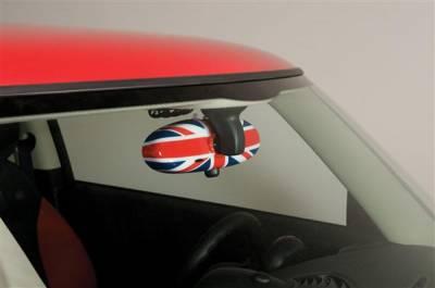 Car Interior - Interior Accessories - Putco - Mini Cooper Putco Chrome Union Jack Rear View Mirror Cover - 400059