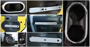 Car Interior - Interior Trim Kits - Putco - Jeep Wrangler Putco Interior Chrome Accessory Kit - 405641