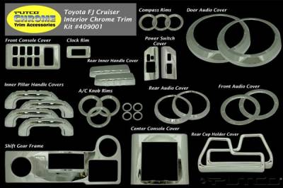 Car Interior - Interior Trim Kits - Putco - Toyota FJ Cruiser Putco Interior Chrome Accessory Kit - 34PC - 409001