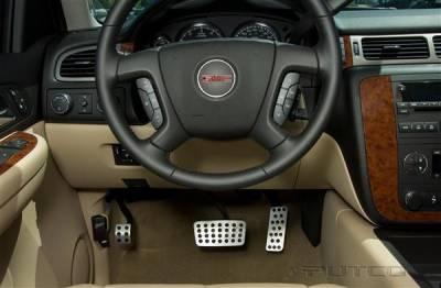 Car Interior - Car Pedals - Putco - GMC Sierra Putco Street Design Liquid Pedals - 931180