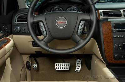 Car Interior - Car Pedals - Putco - Chevrolet Silverado Putco Street Design Liquid Pedals - 931180
