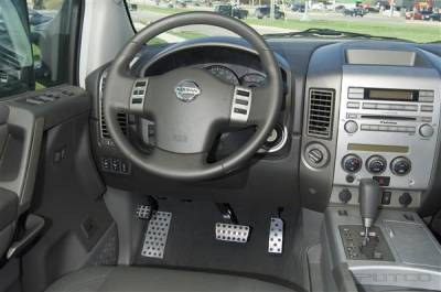 Car Interior - Car Pedals - Putco - Nissan Titan Putco Track Design Liquid Pedal Foot Rest - 932054