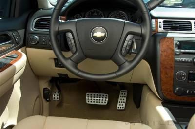 Car Interior - Car Pedals - Putco - Chevrolet Silverado Putco Track Design Liquid Pedals - 932180