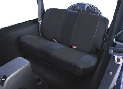Car Interior - Seat Covers - Omix - Rugged Ridge Custom Fit Poly-Cotton Seat Cover - Rear - 13280-01
