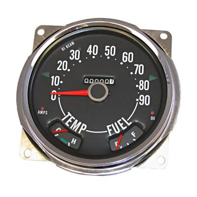 Car Interior - Gauges - Omix - Omix Speedometer Assembly - 0-90 MPH - 17206-04