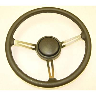 Car Interior - Steering Wheels - Omix - Omix Steering Wheel - Leather Trim - 18031-08