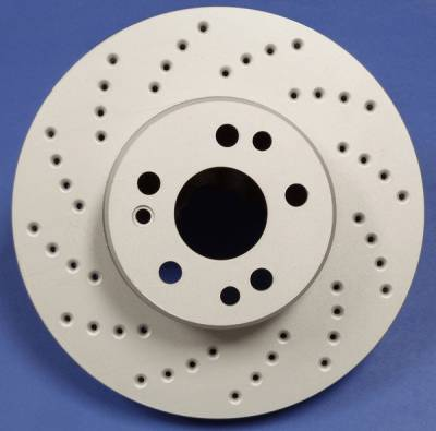 Brakes - Brake Rotors - SP Performance - Infiniti I35 SP Performance Cross Drilled Solid Rear Rotors - C32-134