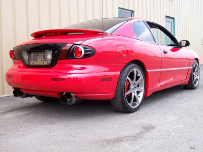Spoilers - Custom Wing - DAR Spoilers - Pontiac Sunfire 2Dr DAR Spoilers OEM Look Flush Wing w/ Light ABS-308