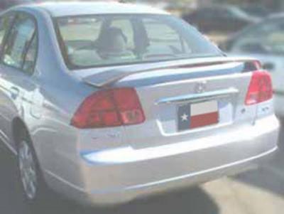 Spoilers - Custom Wing - DAR Spoilers - Honda Civic 4Dr DAR Spoilers OEM Look 3 Post Wing w/ Light ABS-521