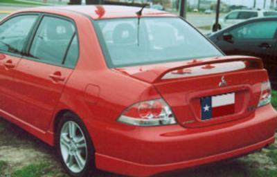 Spoilers - Custom Wing - DAR Spoilers - Mitsubishi Lancer Ralliart DAR Spoilers OEM Look 3 Post Wing w/ Light ABS-527