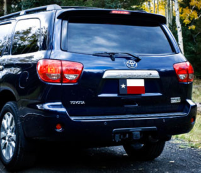 Spoilers - Custom Wing - DAR Spoilers - Toyota Sequoia DAR Spoilers OEM Look Roof Wing w/ Light ABS-718