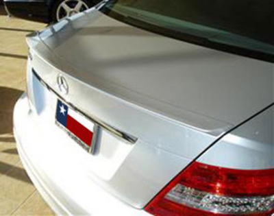 Spoilers - Custom Wing - DAR Spoilers - Mercedes C-Class Sedan DAR Spoilers Custom Trunk Lip Wing w/o Light ABS-723