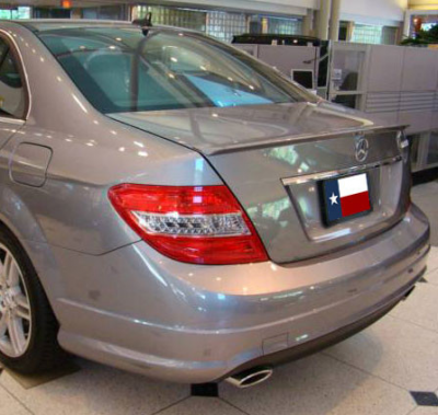 Spoilers - Custom Wing - DAR Spoilers - Mercedes C-Class Sedan DAR Spoilers OEM Look Trunk Lip Wing w/o Light ABS-724