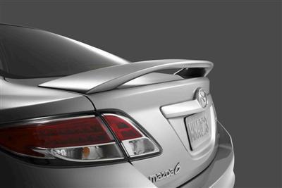 Spoilers - Custom Wing - DAR Spoilers - Mazda 6 Sedan DAR Spoilers OEM Look 3 Post Wing w/ Clear Light ABS-731