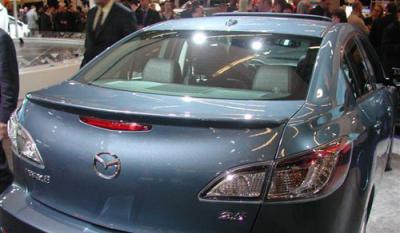 Spoilers - Custom Wing - DAR Spoilers - Mazda 3 Sedan DAR Spoilers OEM Look Trunk Lip Wing w/o Light ABS-734