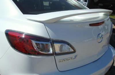 Spoilers - Custom Wing - DAR Spoilers - Mazda 3 Sedan DAR Spoilers OEM Look 3 Post Wing w/o Light ABS-735