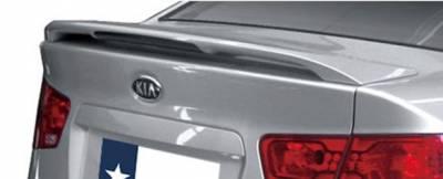 Spoilers - Custom Wing - DAR Spoilers - Kia Forte Sedan DAR Spoilers OEM Look 3 Post Wing w/ Clear Light ABS-742
